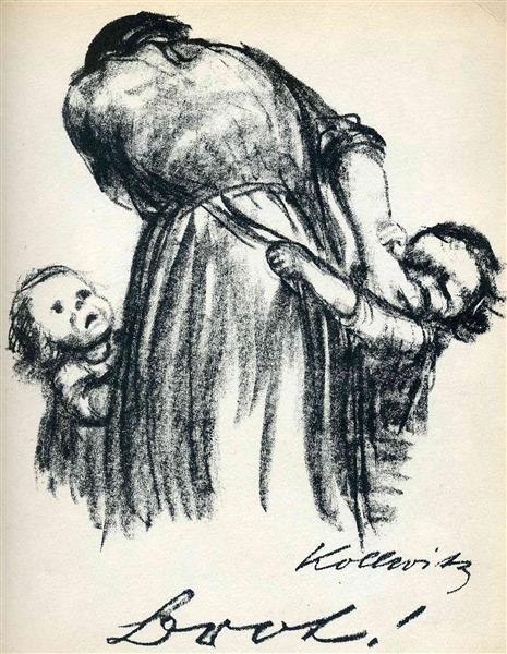Bread!, 1924 - Kathe Kollwitz - WikiArt.org