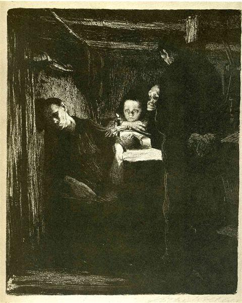 Death, 1893 - 1897 - Kathe Kollwitz