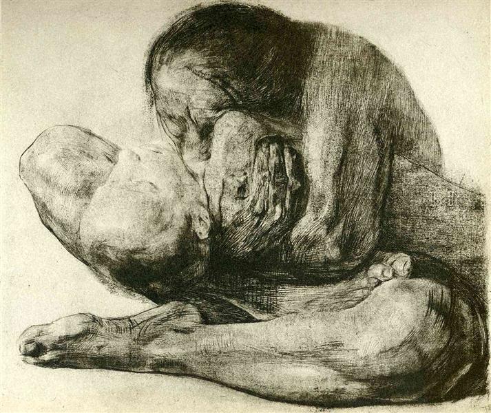 Woman with Dead Child - Kollwitz Kathe