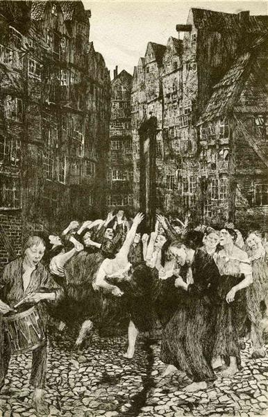 The Carmagnole (Dance Around the Guillotine), 1901 - Kathe Kollwitz