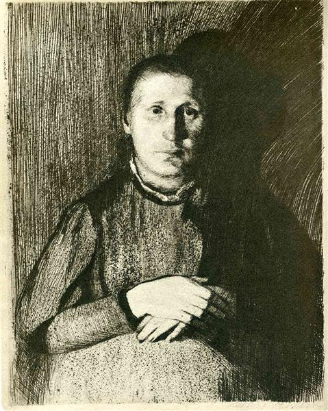 Pregnant woman with folded hands, 1898 - 1899 - Kathe Kollwitz