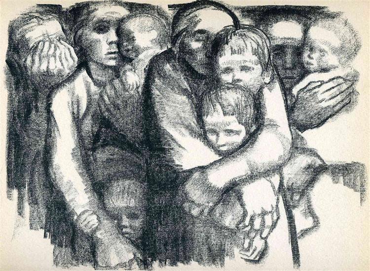 The Mothers, 1919 - Kathe Kollwitz