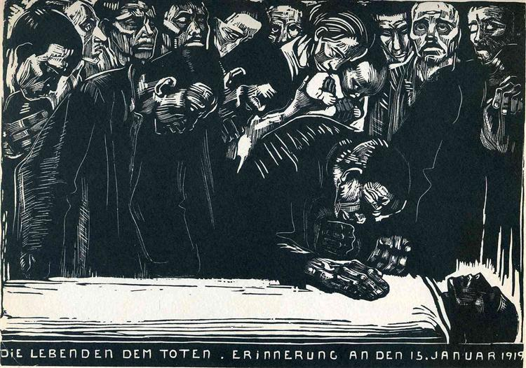 Memorial for Karl Liebknecht - Kathe Kollwitz
