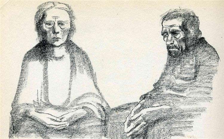 The Parents, 1919 - Kathe Kollwitz