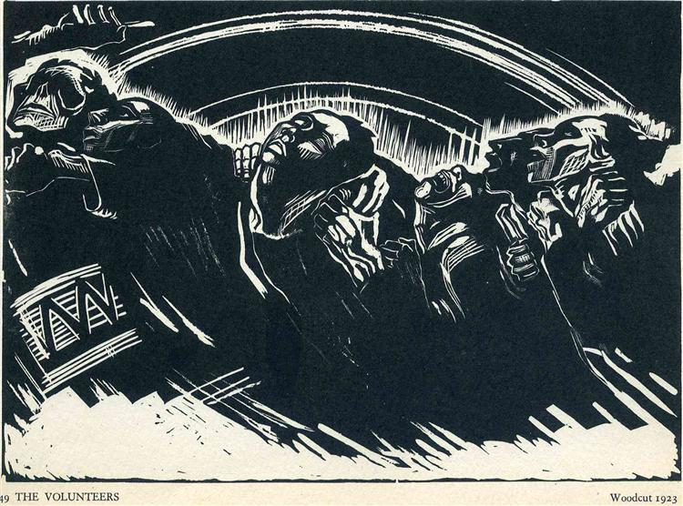 The Volunteers, 1922 - Kathe Kollwitz