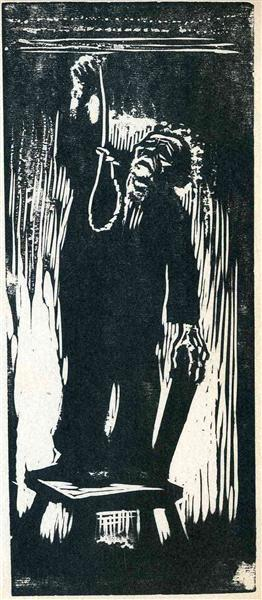 Old Man with Noose - Kathe Kollwitz