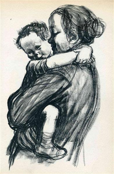 Mother with Child, 1933 - Käthe Kollwitz