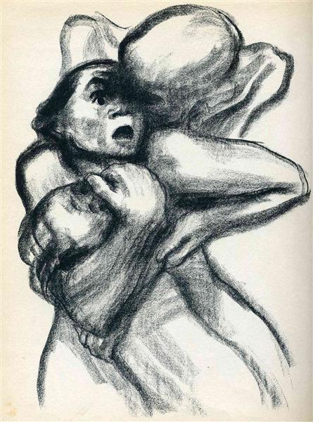 Death Seizing A Woman - Kollwitz Kathe