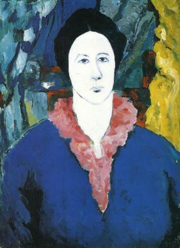 Blue Portrait - Kazimir Malevich - WikiArt.org