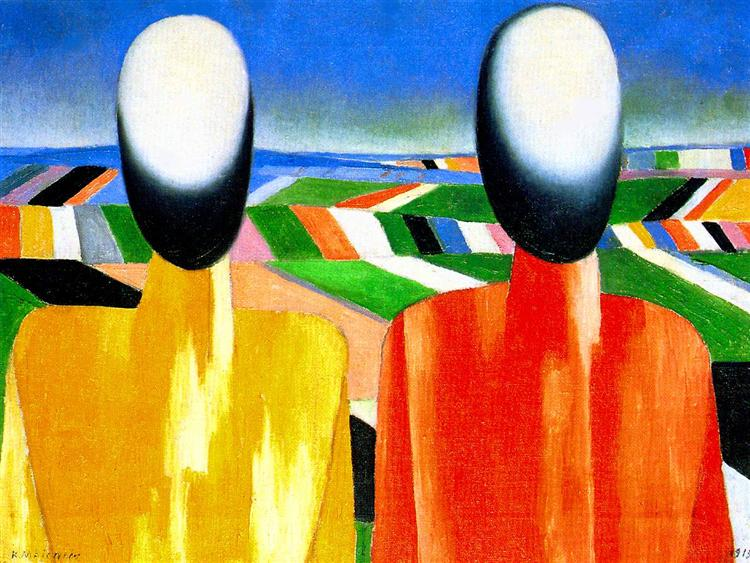 Peasants, c.1930 - Kazimir Malevich