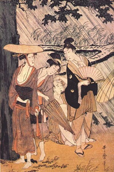 Shower - Kitagawa Utamaro
