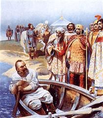 Svyatoslav's meeting with Emperor John, as described by Leo the Deacon - Klavdi Lébedev