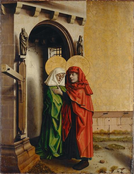 Joachim and Anna in front of the Golden Gate, 1435 - Konrad Witz