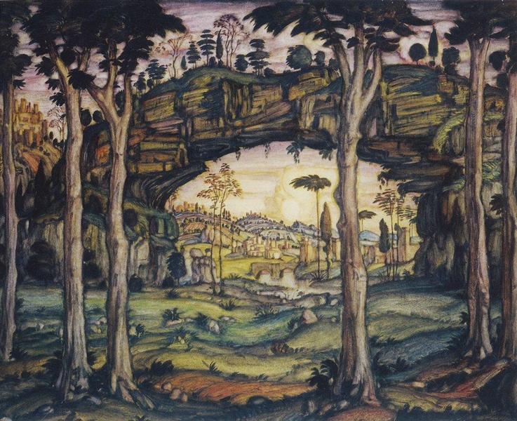 Italian Landscape, 1911 - Konstantin Bogaevsky