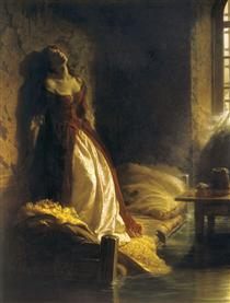 Princess Tarakanova, in the Peter and Paul Fortress at the Time of the Flood - Константин Флавицкий