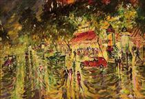 A Boulevard in Paris - Konstantin Alexejewitsch Korowin