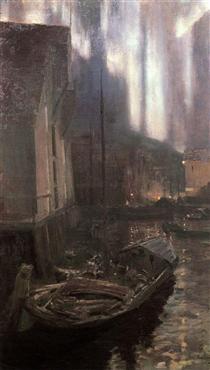 Hammerfest. The Nothern Lights - Konstantin Alexejewitsch Korowin