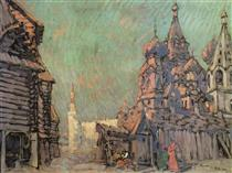 Red Square in Moscow - Konstantin Korovin