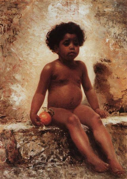 Arab Boy with an Orange, c.1870 - Konstantin Makovsky