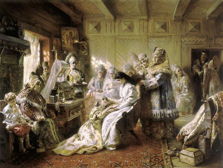 Before the Wedding, 1890 - Konstantin Makovsky