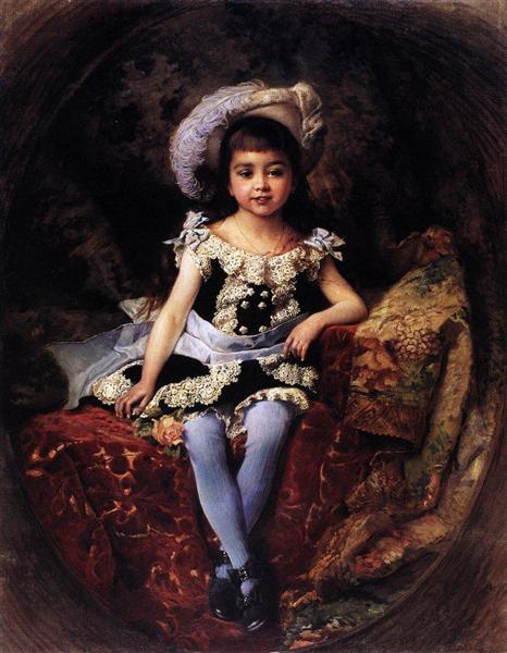 Child Portrait, 1879 - Konstantin Makovsky