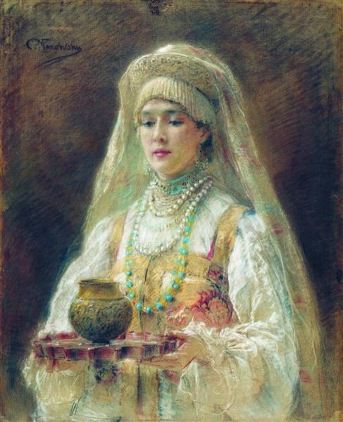 Cup of Honey, c.1910 - Konstantin Makovsky