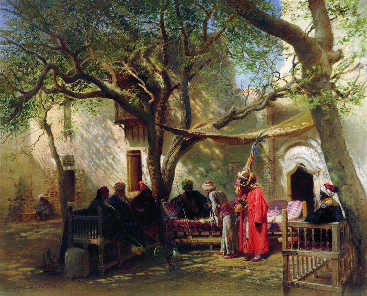 Dervishes in Cairo, 1875 - Konstantin Makovsky