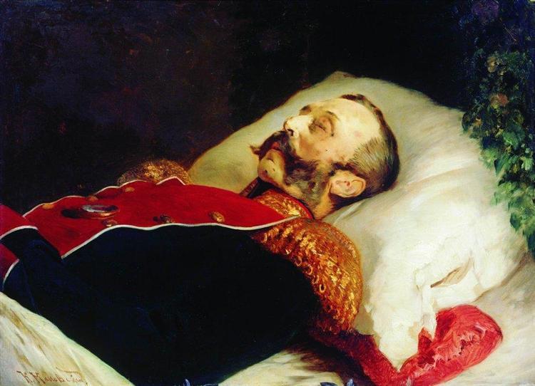 Emperor Alexander II on His Deathbed, 1881 - Konstantin Makovsky