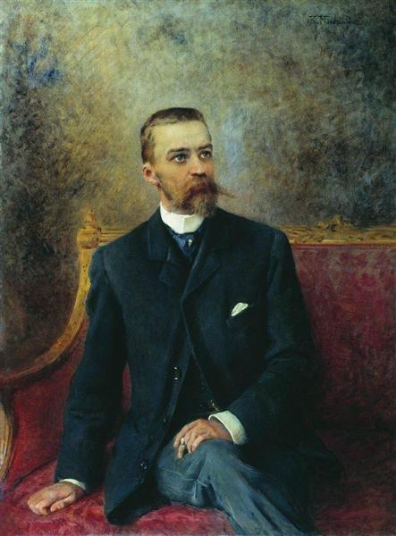 Portrait of A.Kuzhetsov, c.1890 - Konstantin Makovsky