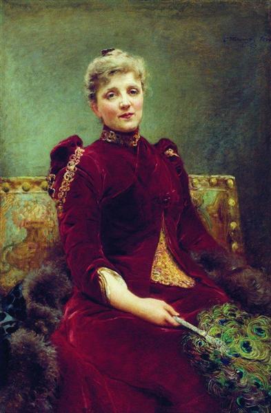 Portrait of Hudenkova, 1890 - Konstantin Makovsky