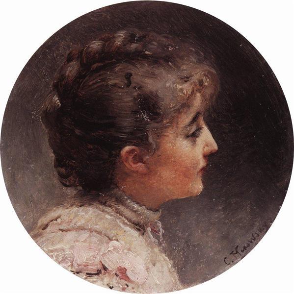 Portrait of Lady Vivien, c.1900 - Konstantin Makovsky