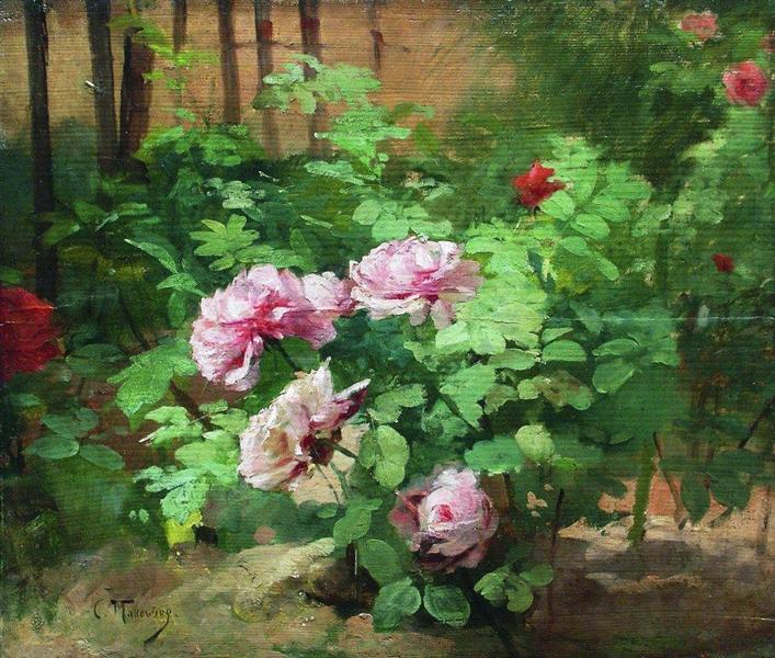 Roses, c.1890 - Konstantin Makovsky