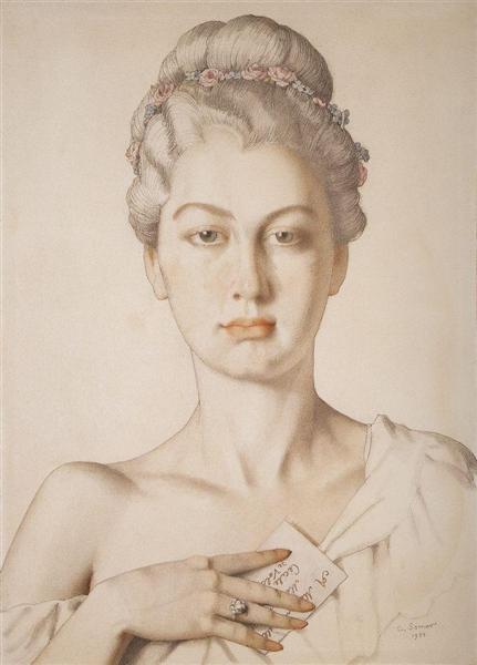 Cecile de Volanzh, 1934 - Constantin Somov