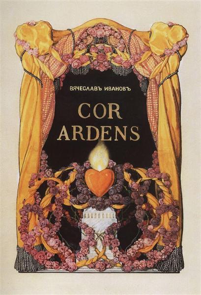 Frontispiece to the Book of Poems V. Ivanov 'Cor Ardens', 1907 - Konstantin Somov