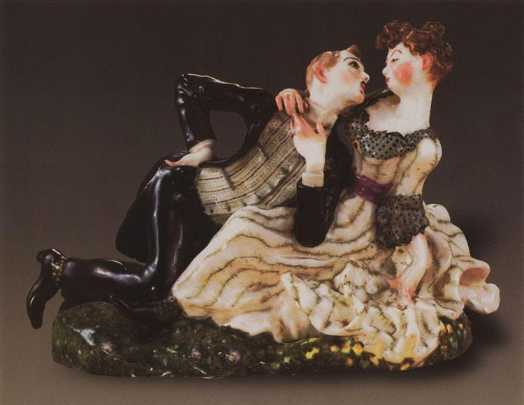 Lovers 1, 1905 - Konstantin Somov