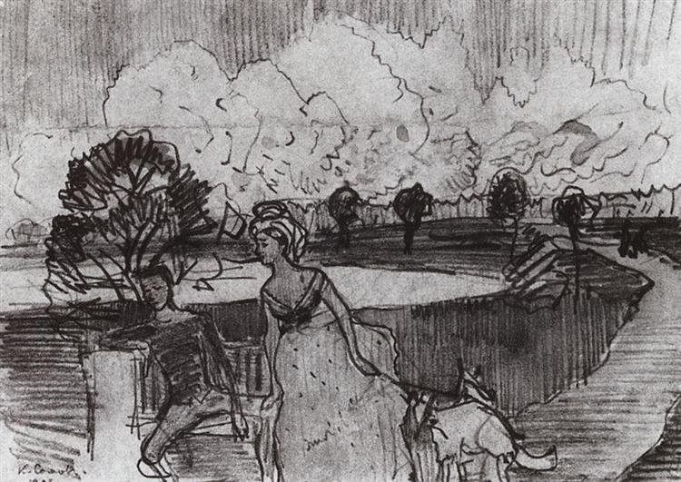 The Date, 1896 - Konstantin Somov