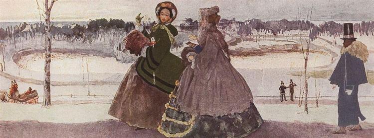 Walking in Winter, 1896 - Konstantin Somov