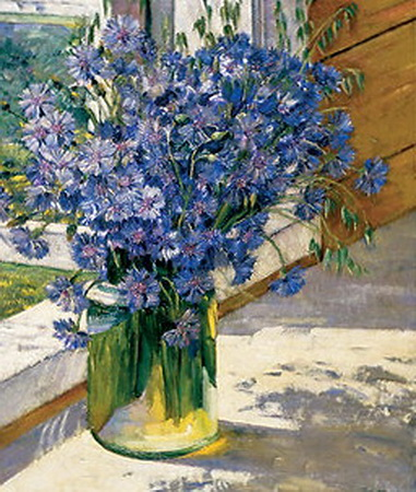 Cornflowers in a ray of sunshine, 1930 - Konstantin Yuon