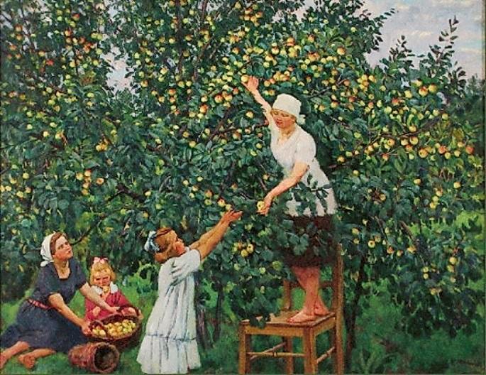 Picking Apples, 1928 - Konstantin Yuon