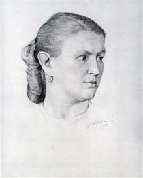 Portrait of E.A. Krilova - Konstantin Yuon
