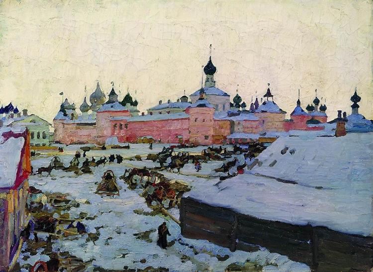 Spring Evening. Rostov The Great, 1906 - Constantin Youon