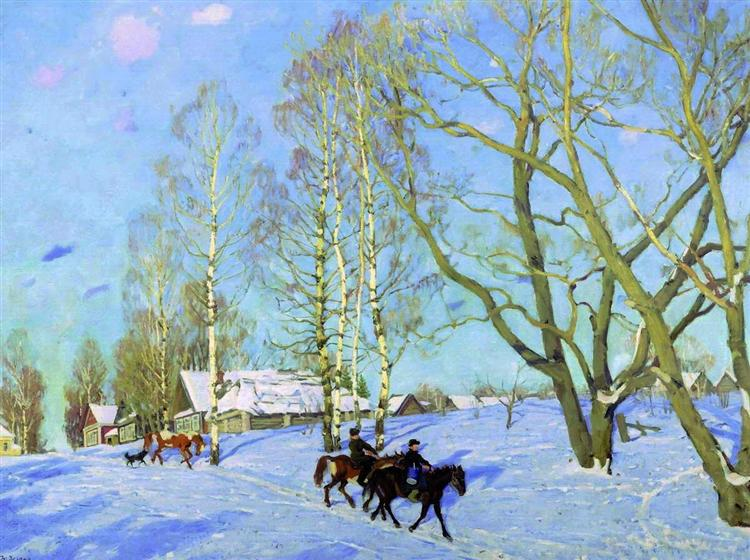 The March Sun, 1915 - Konstantin Yuon