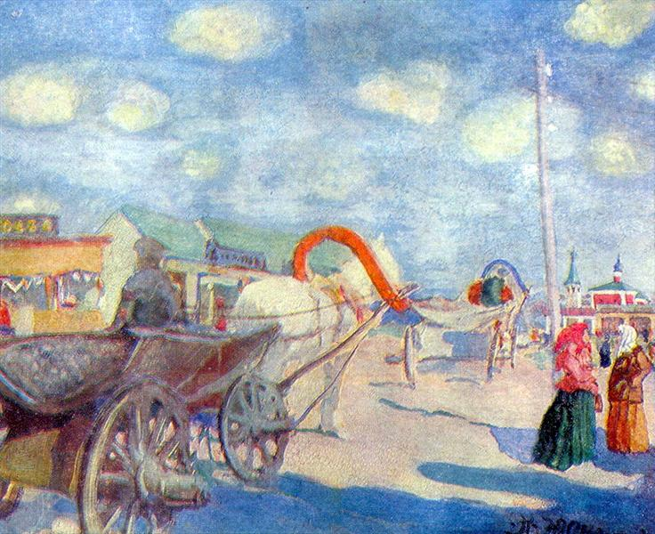 The Square of ​​a provincial town, 1912 - Konstantin Yuon