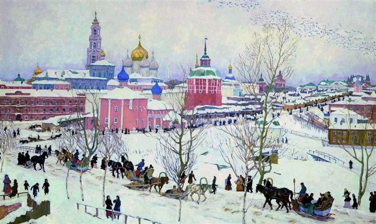 The Troitse-Sergiyev Monastery in winter, 1910 - Konstantin Yuon