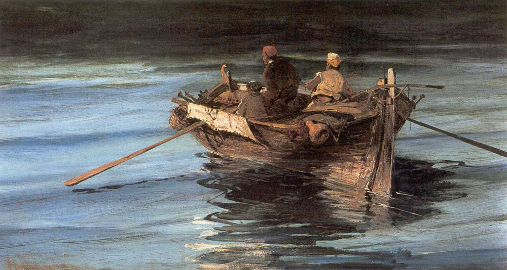 Art of the day june 2015 for Fishing boat painting