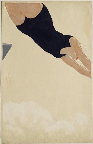 Diving, 1932 - Koshiro Onchi