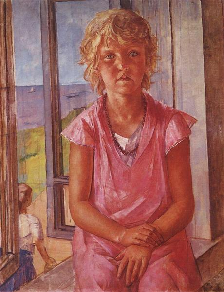 The daughter of a fisherman, 1936 - Kuzma Petrov-Vodkin