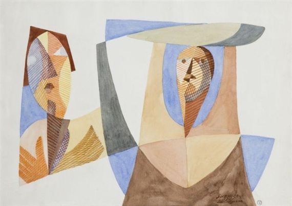 Femmes De San Giminiano, 1950 - Léopold Survage