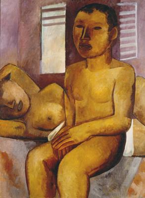 Dois nus, 1930 - Lasar Segall