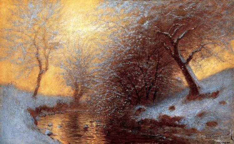 Brookside in Winter, 1880 - Laszlo Mednyanszky